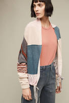 Anthropologie Plaid Cashmere Bomber
