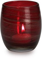 Mikasa Red Sparkle Egg Shape Tea Light Holder