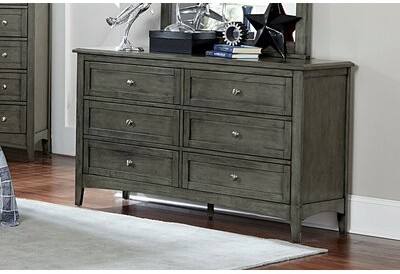 Charlton Home Socorro 6 Drawer Double Dresser With Mirror Shopstyle