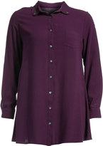 Isolde Roth Plus Size Long linen-cotton blend blouse