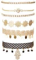Charlotte Russe Embellished Hamsa Layering Bracelets - 6 Pack