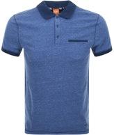 BOSS ORANGE Push Polo T Shirt Blue