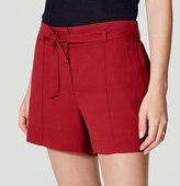 LOFT Petite Tie Waist Shorts