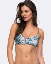 Roxy Womens Strappy Love Athletic Tri Reversible Separate Bikini Top