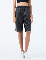 KYE Black Chain Motif Laser Cutting Sweat Short Pants