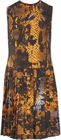McQ by Alexander McQueen Pleated printed voile dress