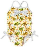 Floatimini Toddler Girls) Palm Tree One-Piece Swimsuit