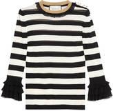 Gucci Striped viscose knit top