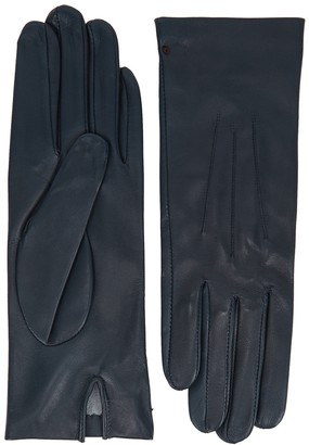 Dents Felicity Navy Leather Gloves
