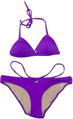 L'Agent by Agent Provocateur Purple Lycra Swimwear