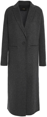 Maje Wool-blend Felt Coat