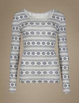 Marks and Spencer HeatgenTM Long Sleeve Thermal Vest Top