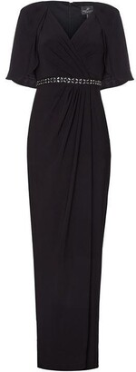 Adrianna Papell Long Draped Jersey Dress