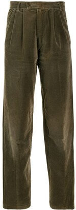 Versace Pre-Owned 1980's Velvety Tapered Trousers