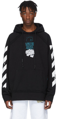 Off-White Off White Black Dripping Arrows Hoodie