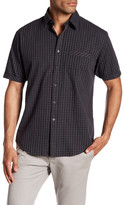 James Campbell Opera Short Sleeve Checkered Regular Fit Woven Shirt