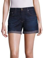 AG Jeans Hailey Medium Wash Roll-Up Shorts