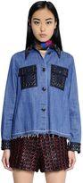 Sonia Rykiel Embellished Cotton Denim Shirt
