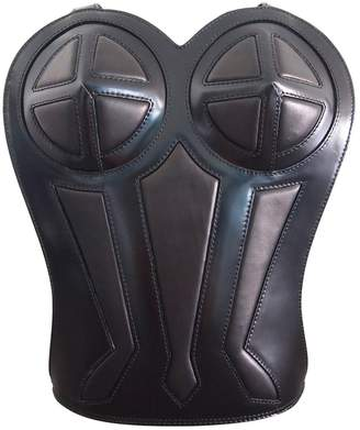Jean Paul Gaultier Black Leather Backpacks