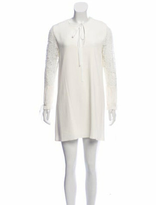 Alexis Lace Mini Dress White