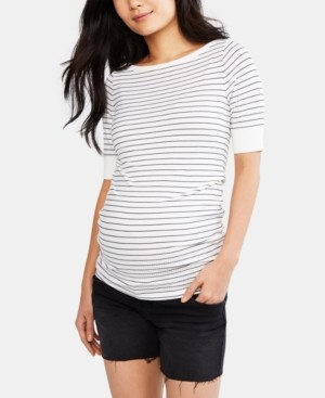 Luxe Essentials Maternity Distressed Denim Shorts