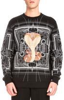 Givenchy Map & Cobra Graphic-Print Sweatshirt, Black