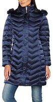Geox Women's Woman Down Jacket Coat, Blue (Dark Navy F4300), UK 6 (34 DE)