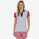 Nautica Striped Color Blocked Polo Shirt