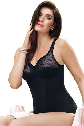 Anita Comfort 3596.2-001 Women's Fiore Black Embroidered Non-Wired Firm Control Slimming Shaping Corselette 38D