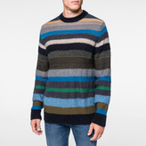 Paul Smith Men's Merino-Mohair Blend Muted Multi-Stripe Sweater