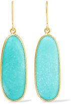 Pippa Small 18-karat Gold Turquoise Earrings - one size