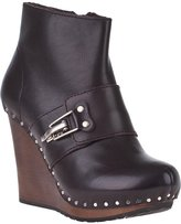 See by Chloe SB19091 Wedge Boot Brown Leather
