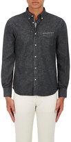Officine Generale Men's Cotton Selvedge Denim Button-Down Shirt-BLACK