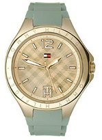 Tommy Hilfiger Three-Hand Rose Gold and Grey Silicone Women's watch