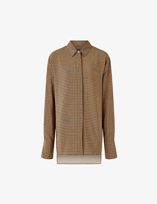 Joseph Bold plaid silk crepe de chine blouse