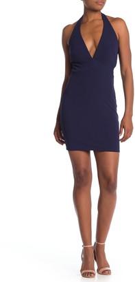 Jump Side Cutout Halter Neck Dress