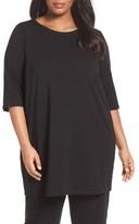 Eileen Fisher Plus Size Women's Stretch Organic Cotton Jersey Tunic