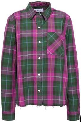 Current/Elliott Split-back Checked Cotton-twill Shirt