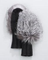 Portolano Silver Fox Mittens