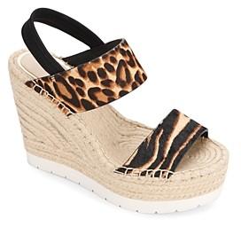 Kenneth Cole Women's Olivia Animal Print Espadrille Platform Sandals
