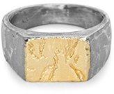 """Bjorg The Might-Have Been"""" Black and 18ct Yellow Gold Plated Sterling Silver Ring - Size T"""