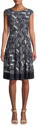 Nic+Zoe Melody Cap-Sleeve Twirl Dress