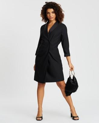 Dp Petite Tuxedo-Style Dress