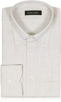 Forzieri Beige Button-down Cotton Men's Shirt