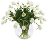 """Winward Silks 35"""" Tulips in Glass Vase - Faux"""