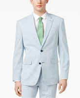 Tommy Hilfiger Men's Slim-Fit Stretch Performance Blue/White Seersucker Suit Jacket