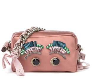 Anya Hindmarch Satin Eye Chain Clutch