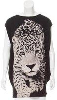 Stella McCartney Leopard Printed Sleeveless T-Shirt