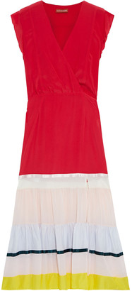Altuzarra July Wrap-effect Crepe De Chine And Chiffon Midi Dress