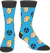 Bioworld Fallout Vault Boy Crew Socks Blue Mens Adult Video Game Christmas Gift Size 8-12